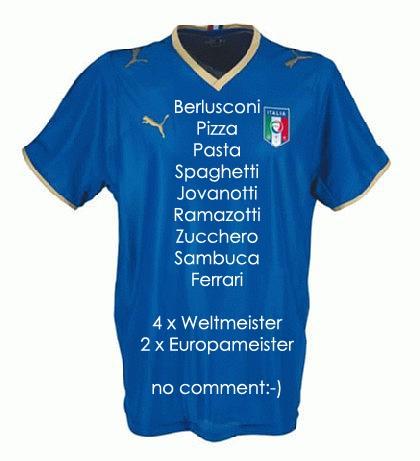 Italien. Italienisches fussball t-shirt.