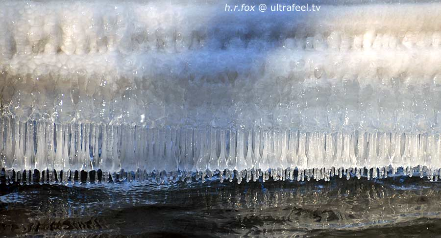 Icicle water art. Photo (c) h.r.fox @ ultrafeel.tv