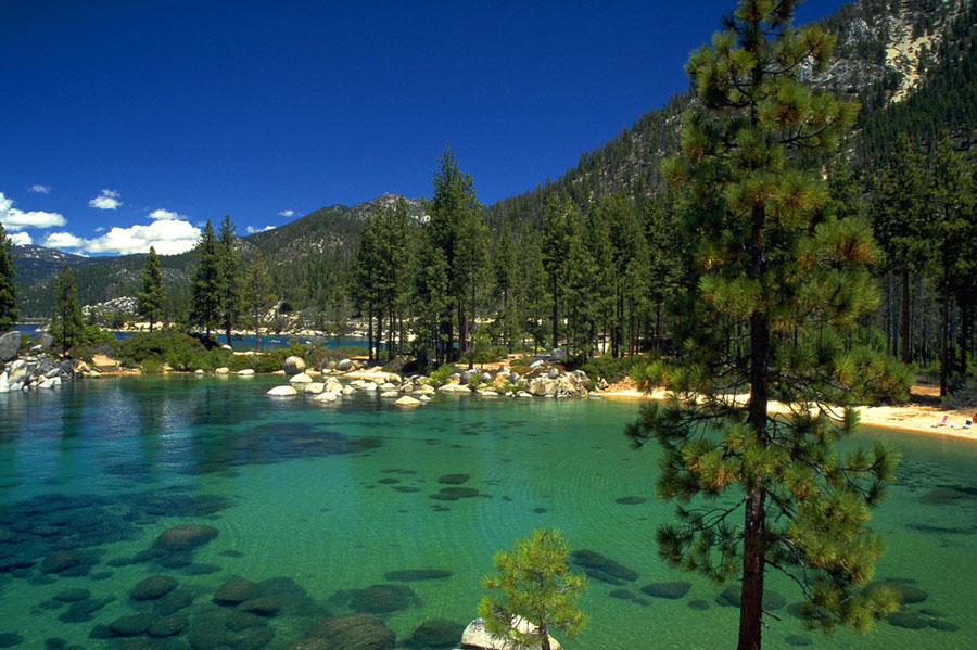 Crystal-clear water at Lake Tahoe (Photo: Christian Abe)