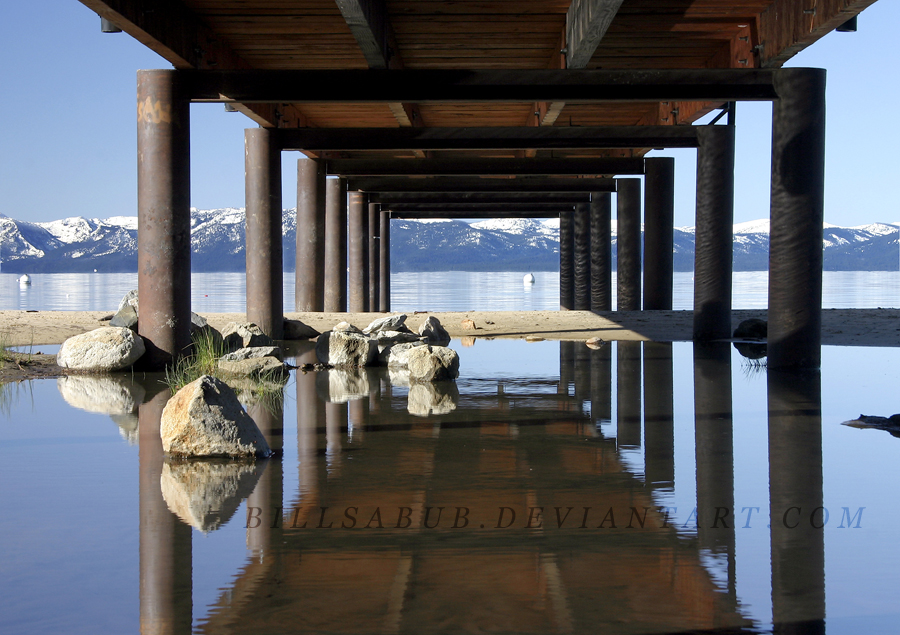 Lake Tahoe dock. (by Bill Anders)
