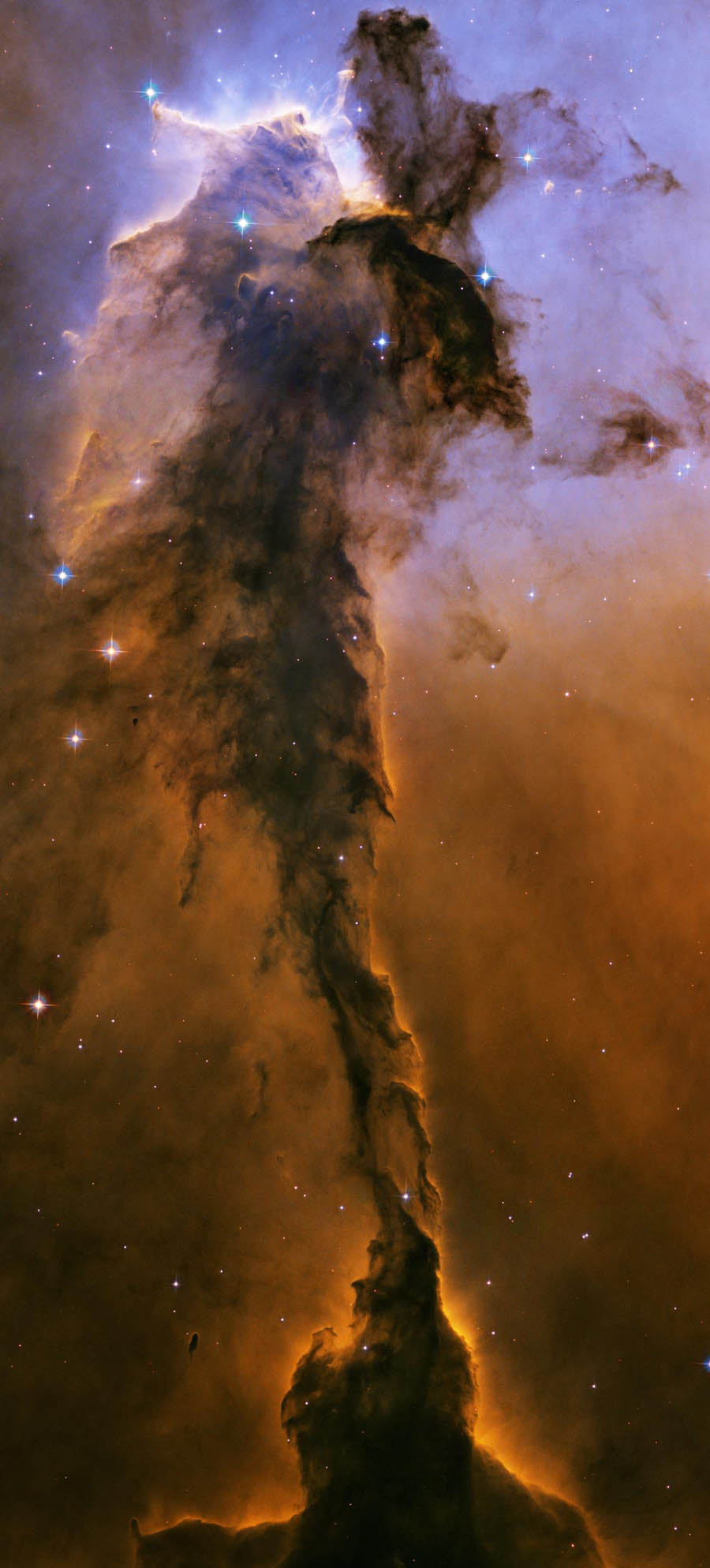 Eagle Nebula dust and gas galaxy.