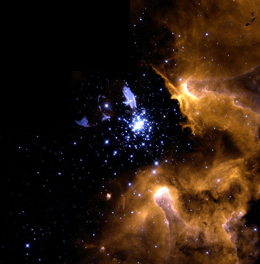NGC 3603 nebula galaxy.