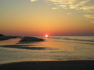 Sunrise at a beach.