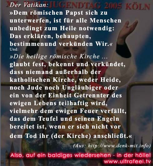 Papst Benedikt (ver)klärt uns wieder mal auf. Pope Benedict. Papa Ratzinger, Papst Fratzinger.