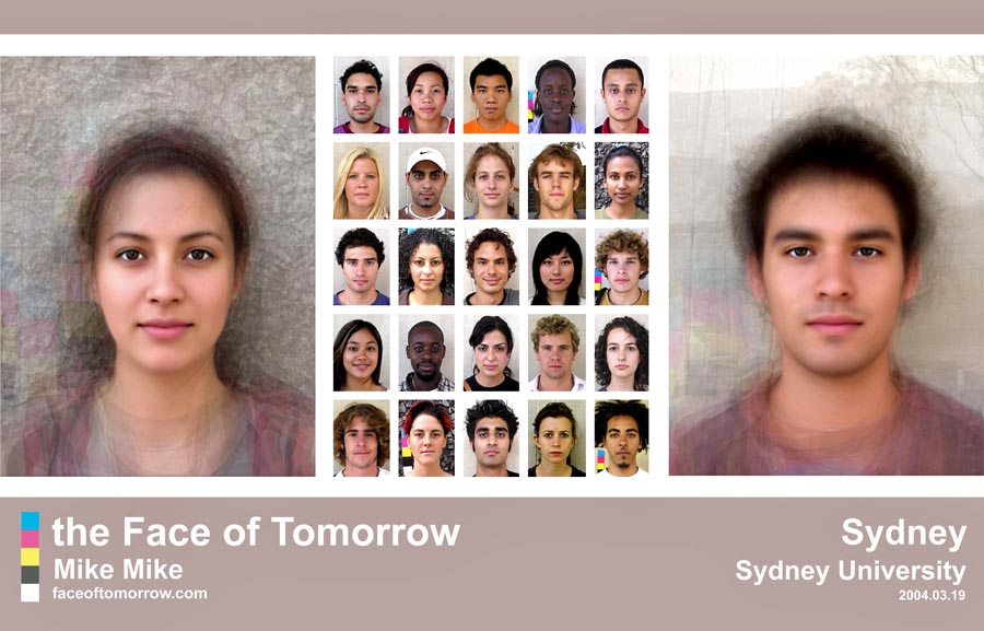 Average faces of Australia: University Sydney