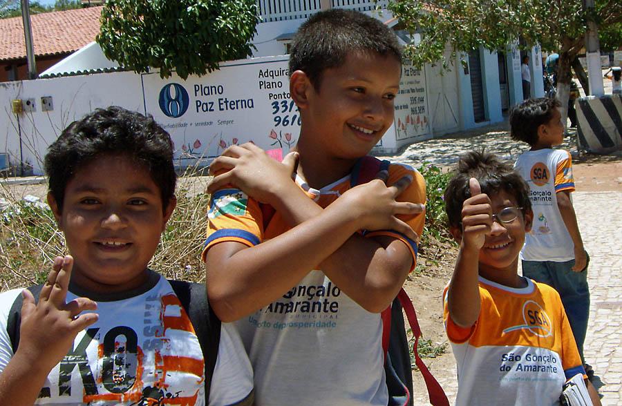School kids in Brazil.