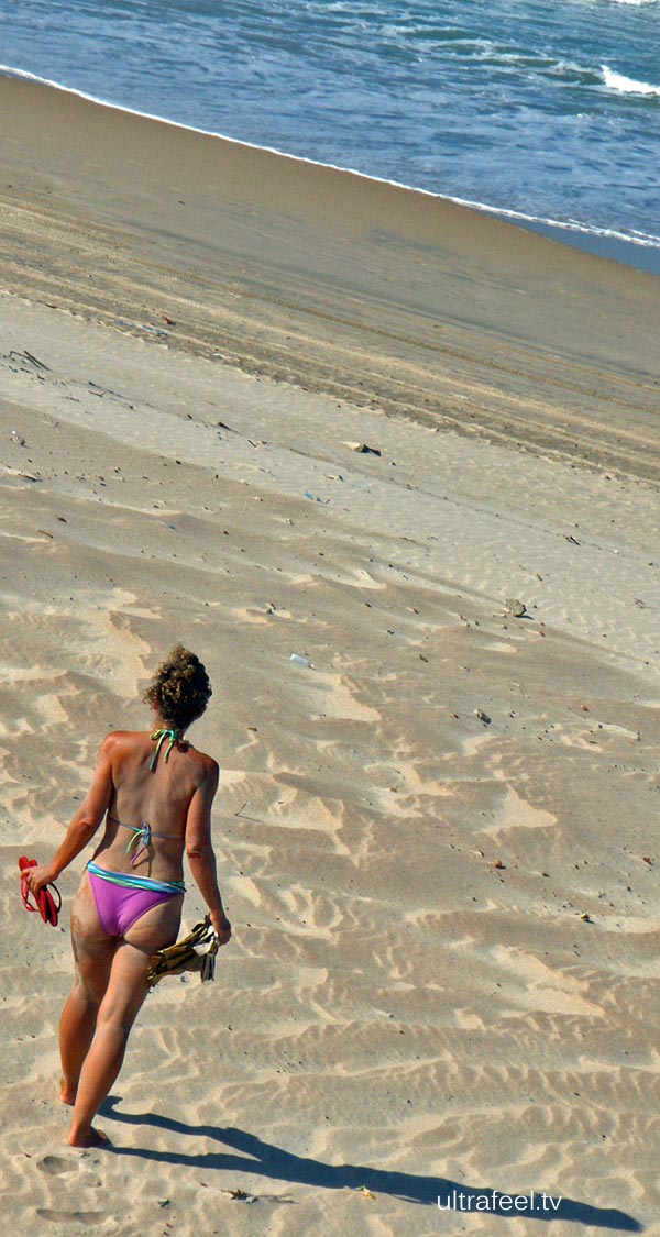 Woman at the beach.