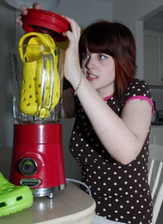 Put your ugly crocs sandals in a mixer...!