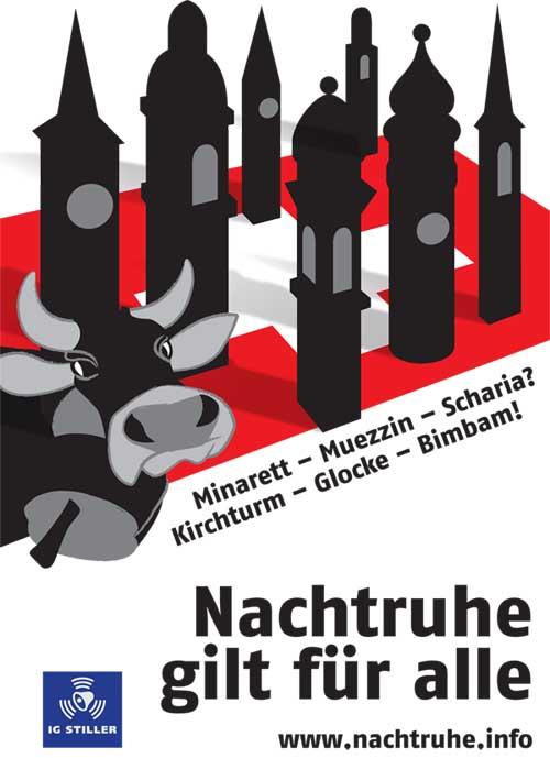 IG Stiller Nachtruhe-Kirchenglocken Plakat.