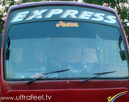 Express Jesus bus in India.