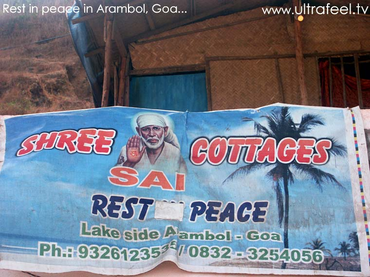 """Rest in Peace"" resort in Arambol, Goa"
