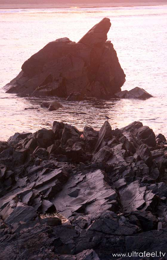 Rocks in the sea, Arambol, Goa