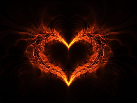 Fractal fire heart