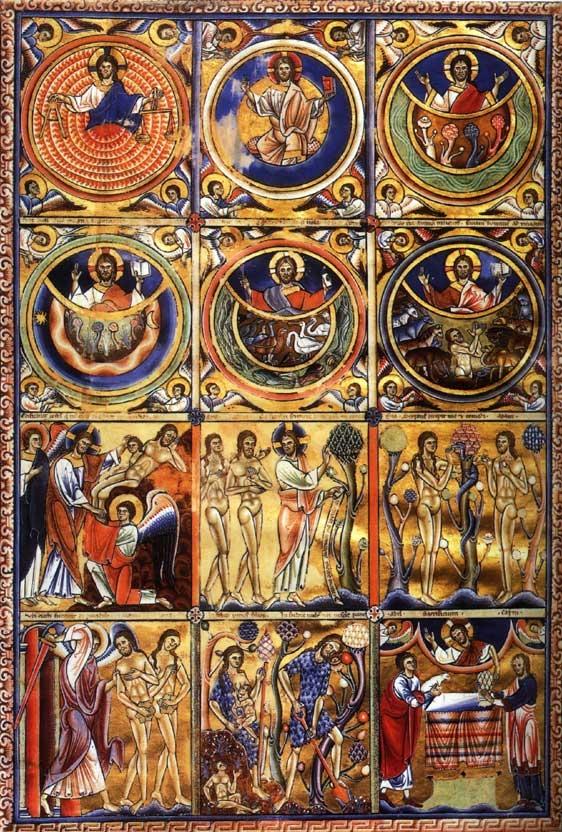 Paris Eadvine Psalter. Tree of Knowledge. Mushrooms. Magische Pilze. Gebetsbuch.