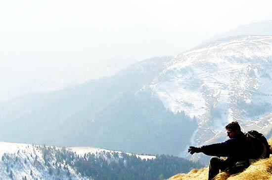 Berge. Wanderer. Wandern.