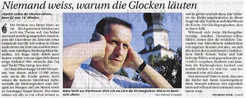 Kirchenglocken, Glocken: Warum läuten sie? Glockenlärm schädigt die gesundheit!