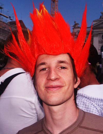 Streetparade 2008 - Boy with red hair.
