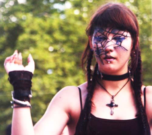 Streetparade 2008 - Spidergirl, Spiderwoman, bodypainting